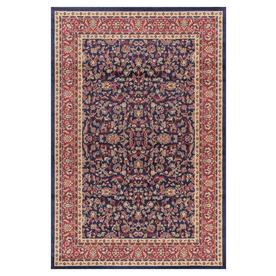 Concord Global Valencia Navy Rectangular Indoor Woven Oriental Area Rug (Common: 4 x 6; Actual: 47-in W x 67-in L x 3.92-ft Dia)