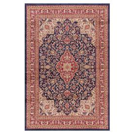 Concord Global Valencia 94-in x 108-in Rectangular Blue Floral Area Rug