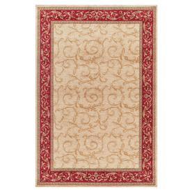 Concord Global 6-ft 7-in x 9-ft 3-in Ivory Valencia Area Rug