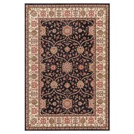 Concord Global Valencia 7-ft 10-in x 9-ft Rectangular Black Floral Area Rug