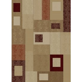 Concord Global Studio Rectangular Cream Geometric Woven Area Rug (Common: 7-ft x 10-ft; Actual: 6.58-ft x 9.5-ft)