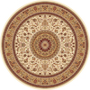 Concord Global Cyrus 94-in x 94-in Round Cream/Beige/Almond Floral Area Rug