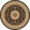 Concord Global Cyrus 63-in x 63-in Round Black Floral Area Rug