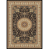 Concord Global Cyrus 94-in x 130-in Rectangular Black Floral Area Rug