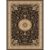 Concord Global Cyrus 111-in x 150-in Rectangular Black Floral Area Rug