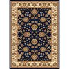 Concord Global Cyrus 6-ft 7-in x 9-ft 6-in Rectangular Blue Floral Area Rug