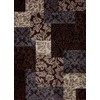 Concord Global Winston 5-ft 3-in x 7-ft 3-in Rectangular Brown Geometric Area Rug