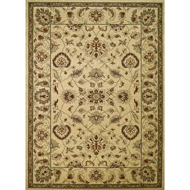 Concord Global Hampton Rectangular Cream Floral Woven Area Rug (Common: 5-ft x 7-ft; Actual: 5.25-ft x 7.25-ft)