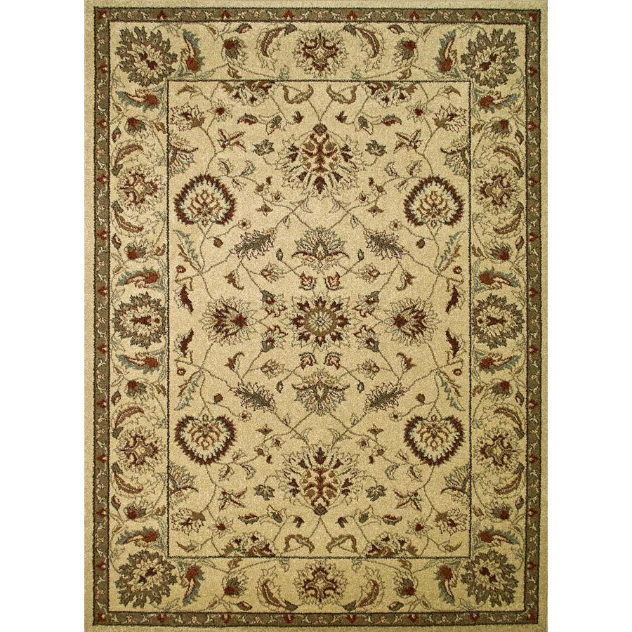 Shop Concord Global Hampton Rectangular Cream Floral Woven