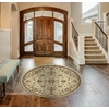 Concord Global Hampton Ivory Round Indoor Woven Oriental Area Rug (Common: 8 x 8; Actual: 94-in W x 94-in L x 7.83-ft Dia)