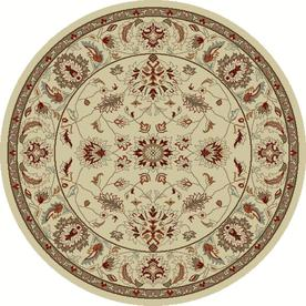 Concord Global Hampton 7-ft 10-in x 7-ft 10-in Round Beige Floral Area Rug