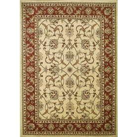 Concord Global Hampton Ivory Rectangular Indoor Woven Oriental Area Rug (Common: 7 x 10; Actual: 79-in W x 114-in L x 6.58-ft Dia)