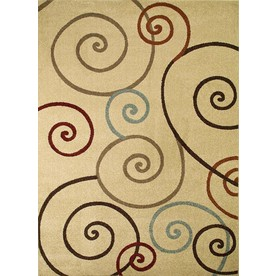 Concord Global 6-ft 7-in x 9-ft 6-in Ivory Hampton Area Rug
