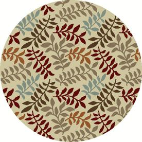 Concord Global Hampton Ivory Round Indoor Woven Nature Area Rug (Common: 8 x 8; Actual: 94-in W x 94-in L x 7.83-ft Dia)
