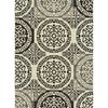 Style Selections Gabany Black Rectangular Indoor Woven Area Rug (Common: 5 x 8; Actual: 63-in W x 90-in L x 5.25-ft Dia)