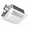 Panasonic 0.5 Sones 80-CFM White Bathroom Fan with Light ENERGY STAR