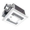 Panasonic 0.3 Sones 80-CFM White Bathroom Fan with Light ENERGY STAR