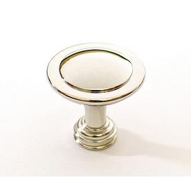 allen + roth Polished Nickel Round Cabinet Knob