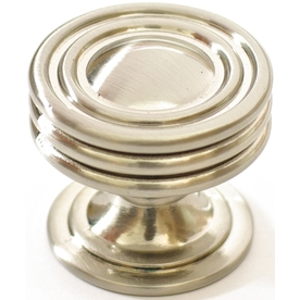 allen + roth 1.25-in Satin Nickel Round Cabinet Knob