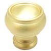 allen + roth 1-1/4-in Satin Brass Round Cabinet Knob