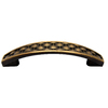 allen + roth 3-in and 96mm Center-to-Center Aged Brass Bar Cabinet Pull