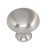 Style Selections Brushed-Satin Nickel Mushroom Cabinet Knob