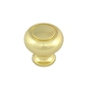 Style Selections Polished Brass Round Cabinet Knob