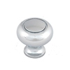 Style Selections Chrome Round Cabinet Knob