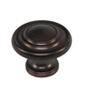 Style Selections 1-1/4-in Aged Bronze Round Cabinet Knob