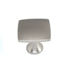 allen + roth 1-3/8-in Brushed-Satin Nickel Square Cabinet Knob
