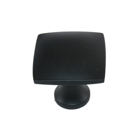 allen + roth 1-3/8-in Matte Black Square Cabinet Knob