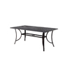 Garden Treasures Williamstown 35.43-in W x 67.91-in L Rectangle Aluminum Dining Table