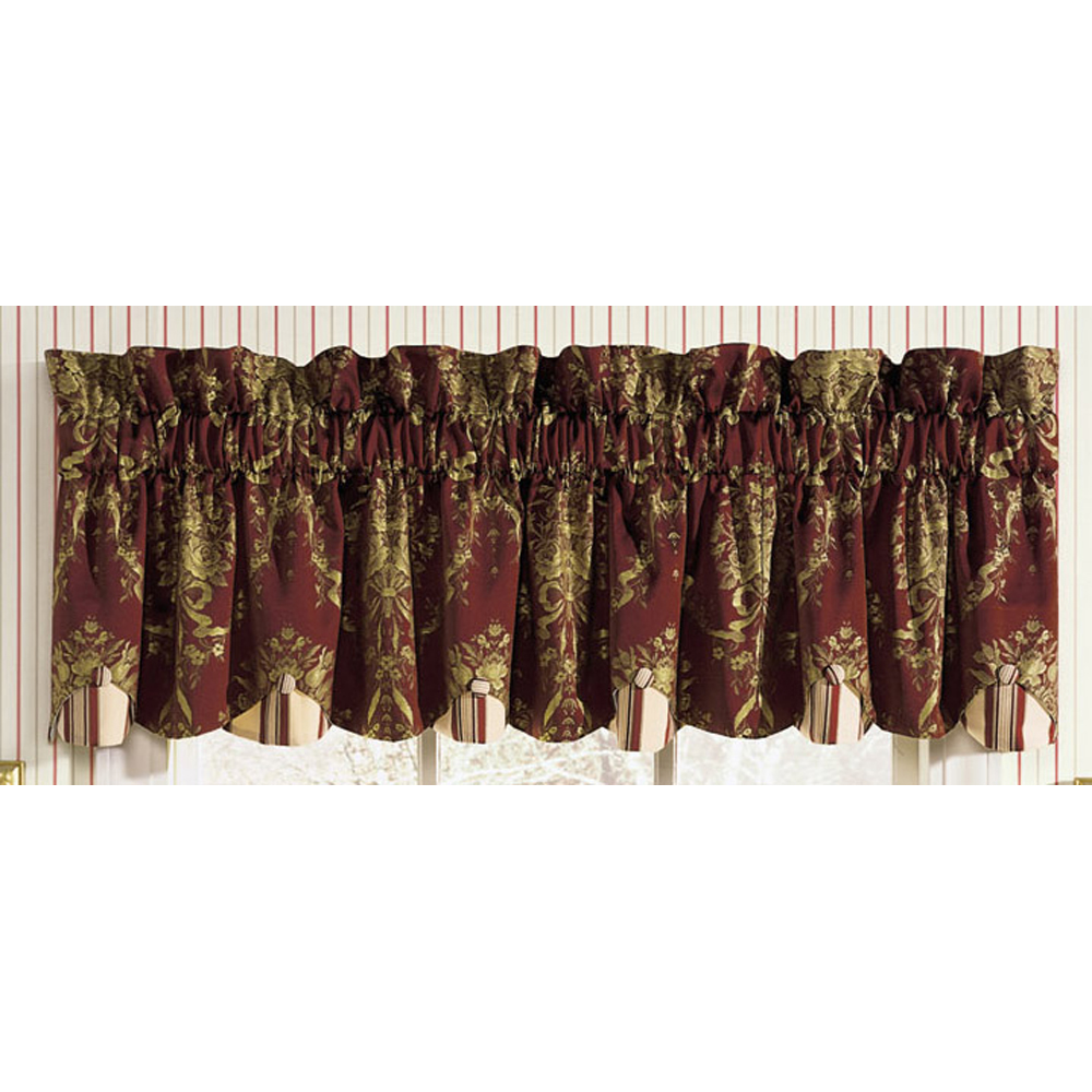 Shop Waverly Home Classics 80 X 15 Rose Momento Merlot Valance At