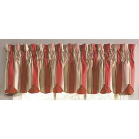 "Waverly® Home Classics 80"" x 15"" Yacht Club Stripe Crimson Valance"