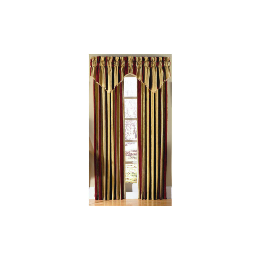 Shop Waverly Waverly Home Classics 84 In L Striped Antique Gold Rod Pocket Curtain Panel At