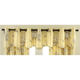 Shop Waverly 16 In L Amber Home Classics Scalloped Valance At