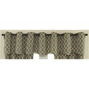 Waverly&nbsp;16-in L Mocha Home Classics Tailored Valance