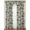 Waverly Country Life 84-in Black Cotton Rod Pocket Single Curtain Panel