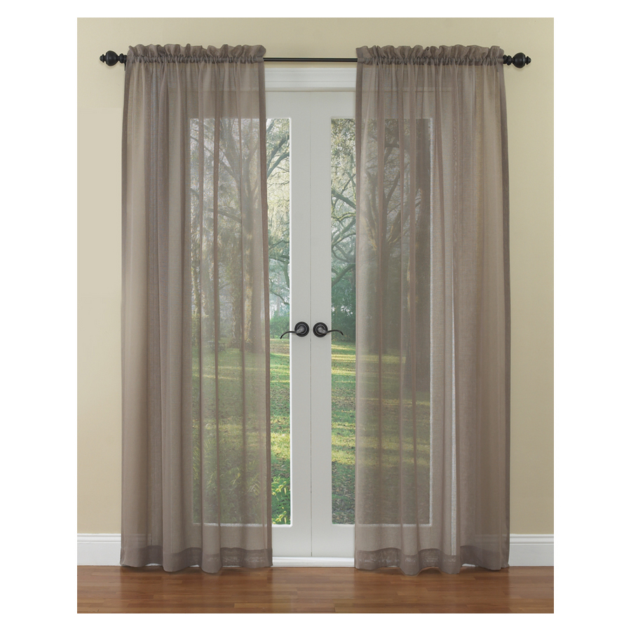 Shop Waverly Waverly Home Classics 84-in L Solid Mocha Rod Pocket ...