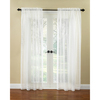 Waverly 84-in L Ivory Windowpane Curtain Panel