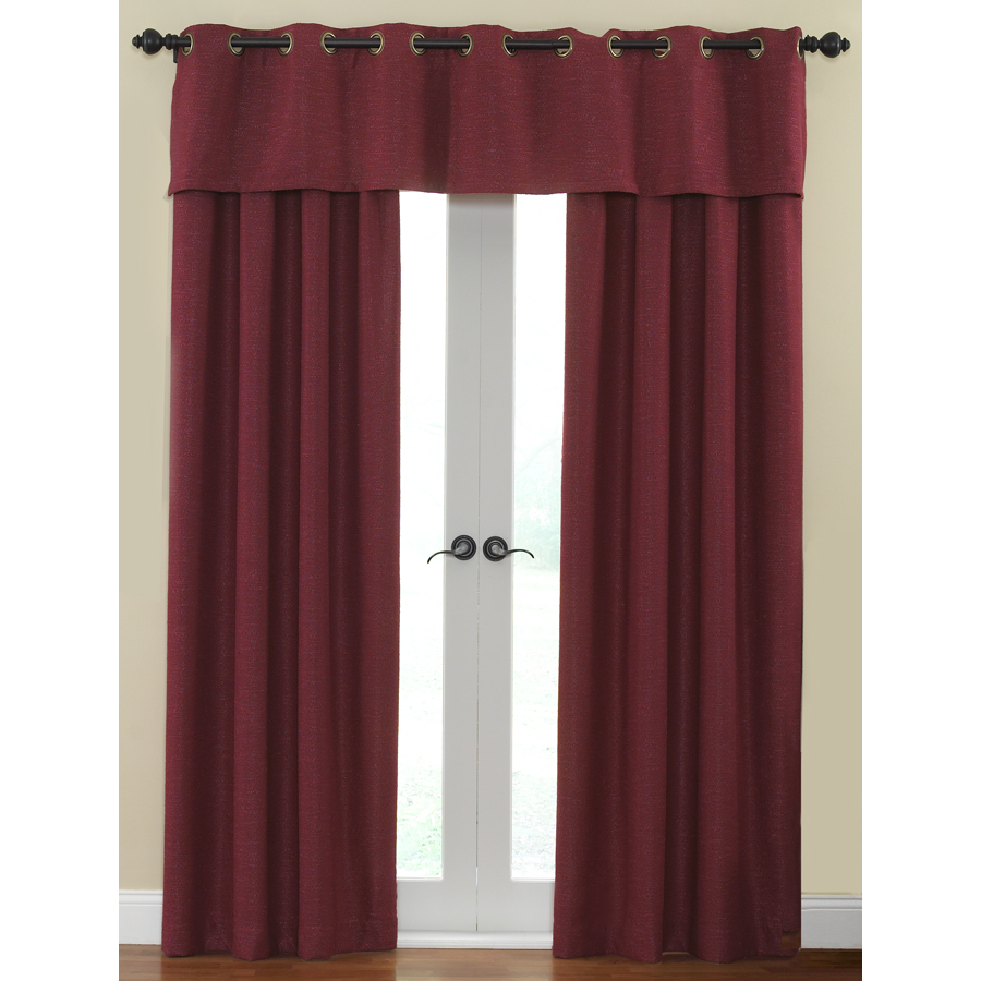 Shop Waverly Cirrus 84-in L Solid Garnet Rod Pocket Window Curtain ...