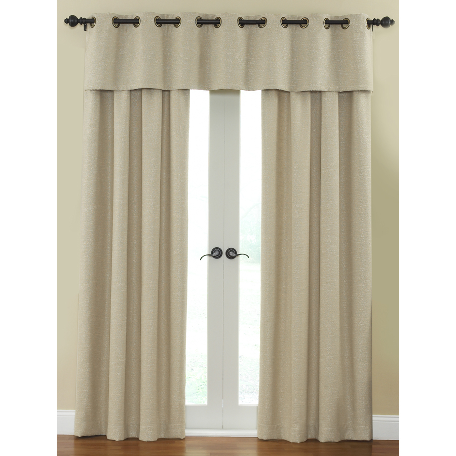 ... 84-in L Solid Cream Rod Pocket Window Curtain Panel at Lowes.com