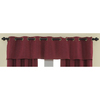 Waverly 16-in L Garnet Home Classics Tailored Valance