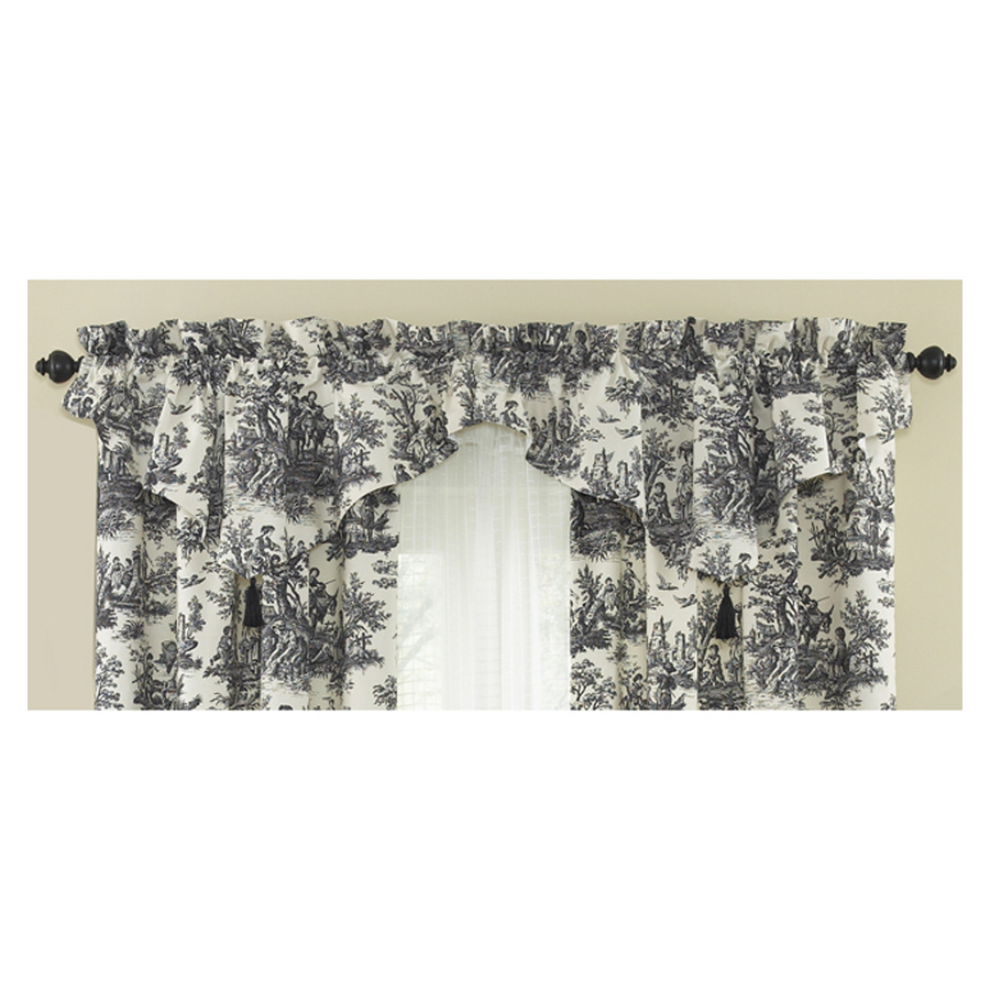 Shop Waverly 20 In L Black Home Classics Ascot Valance At