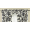 Waverly Home Classics 20-in Black Cotton Rod Pocket Valance