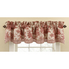 Waverly 14-in L Garnet Home Classics Scalloped Valance