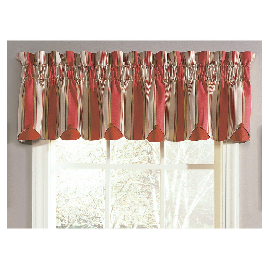 ... Waverly 15-in L Crimson Home Classics Box pleat Valance at Lowes.com