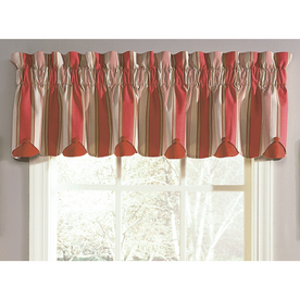 Shop Waverly 15 In L Crimson Home Classics Box Pleat Valance At