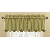 Waverly Home Classics 15-in Sage Cotton Rod Pocket Valance