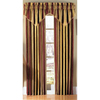 Waverly Capulet Stripe 84-in Antique Gold Cotton Rod Pocket Single Curtain Panel